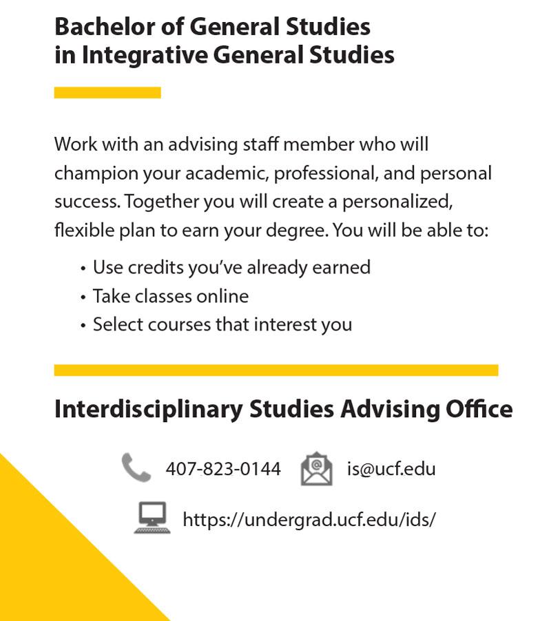 Bachelor of Integrative General Studies Sidebar