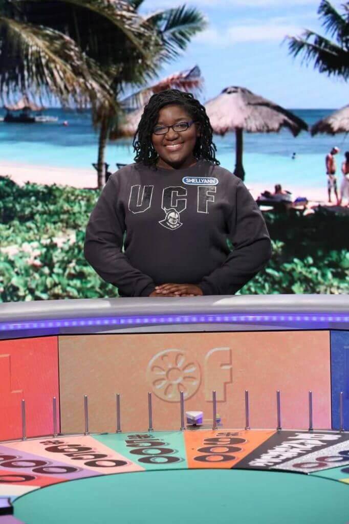 UCF Student Shellyann Tyrell on Wheel of Fortune